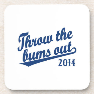 Throw the bums out 2014 blue coasters