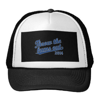 Throw the bums out 2014 blue trucker hat