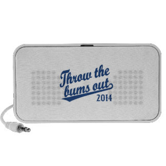 Throw the bums out 2014 blue travelling speaker