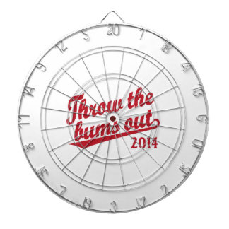 Throw the bums out 2014 red dart board