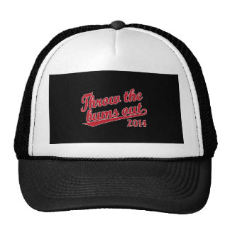 Throw the bums out 2014 red trucker hat