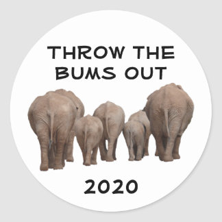 Throw the Bums Out Classic Round Sticker