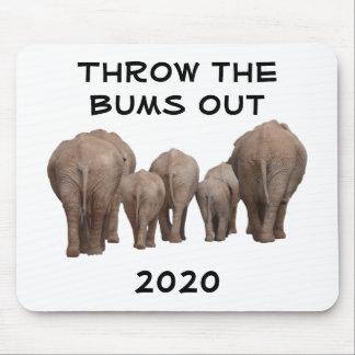 Throw the Bums Out Mouse Pad