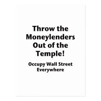 Throw the Moneylenders Out of the Temple!  Occupy Postcard
