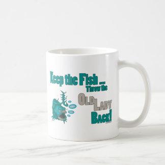 Throw the Old Lady Back Classic White Coffee Mug