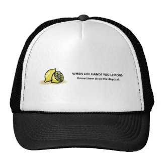 throw-them-down-the-disposal trucker hat