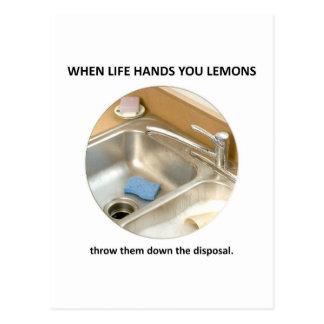 throw-them-down-the-disposal postcard