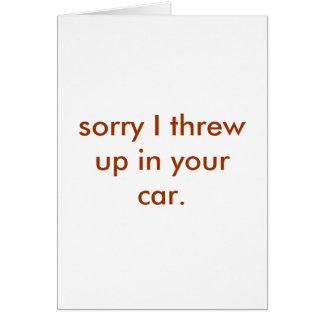 throw up card