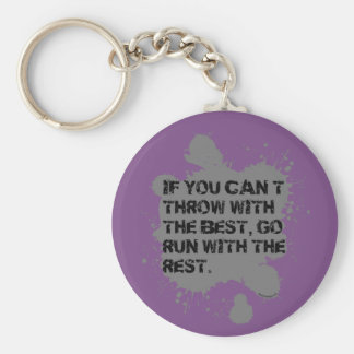 Throw With The Best- Shot Put Discus Keychain