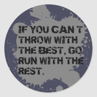 Throw with the Best. ShotPut Discus Throw Stickers