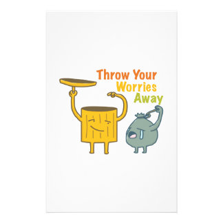 Throw Your Worries Away! Stationery