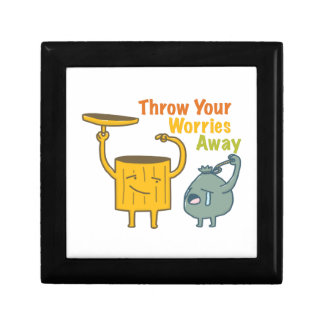 Throw Your Worries Away Storage box