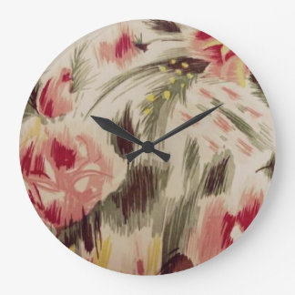 Throwback 1920s Rose Print Large Clock