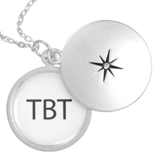 Throwback Thursday.ai Round Locket Necklace