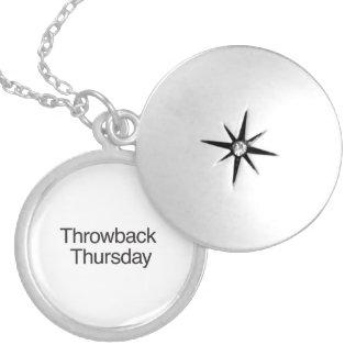 Throwback Thursday Round Locket Necklace