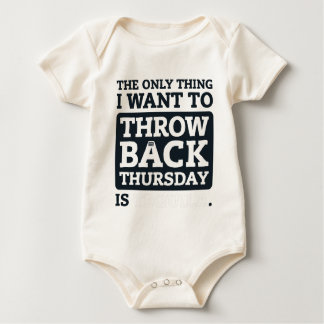 Throwback Thursday Tequila Mexican Drinking Beer Baby Bodysuit