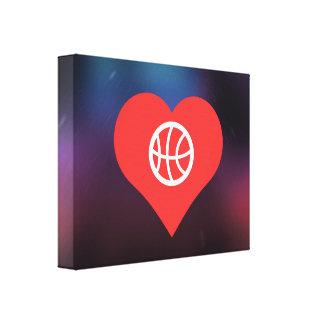 Throwing Basketball Symbol Canvas Print