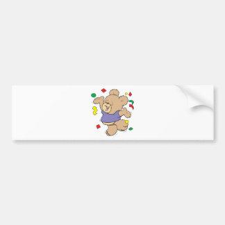 throwing confetti cute party time teddy bear bumper sticker