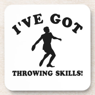 Throwing designs and gift items coasters