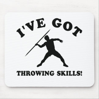 Throwing designs and gift items mouse pad