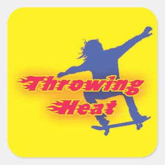 Throwing Heat Skateboarding Sticker
