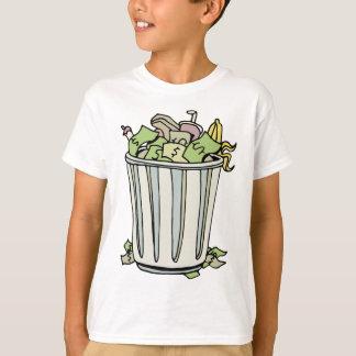 Throwing Money Away Cartoon T-Shirt