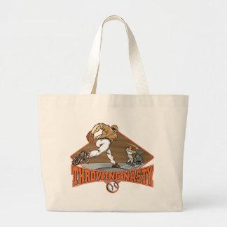 Throwing Nasty Baseball Tote Bags
