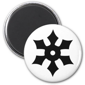 Throwing ninja star refrigerator magnets