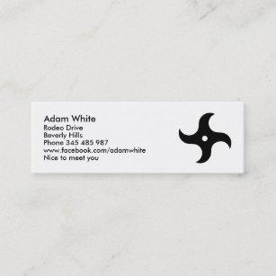 Ninja star business cards zazzle throwing ninja star mini business card reheart Choice Image