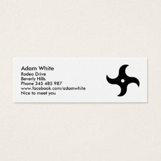 Ninja star business cards templates zazzle throwing ninja star mini business card reheart Choice Image