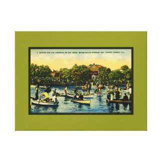 Throwing of the Cross Spring Bayou Epiphany Day Canvas Print