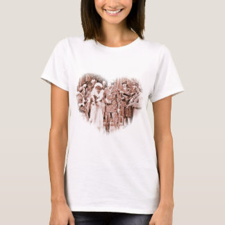 """""""Throwing Rice""""  Vintage GI and Bride T-Shirt"""
