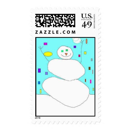 throwing snowballs postage