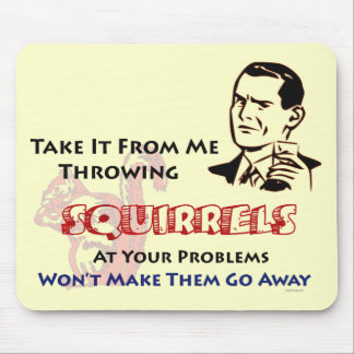 Throwing Squirrels Retro Inspired Mousepad