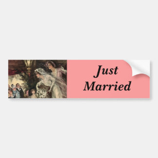 Throwing the Bouquet Bumper Sticker