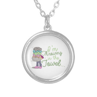 Throwing Towel Round Pendant Necklace