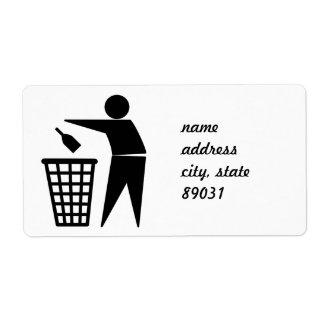 Throwing Trash Away (Bottle) Label