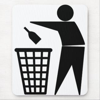 Throwing Trash Away (Bottle) Mouse Pad