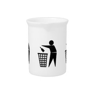 Throwing Trash Away (Bottle) Pitchers