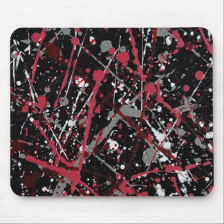 Thrown Paint Mousepad Red-grey-black