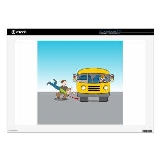 "Thrown Under Bus 17"" Laptop Skin"