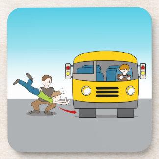Thrown Under Bus Beverage Coaster