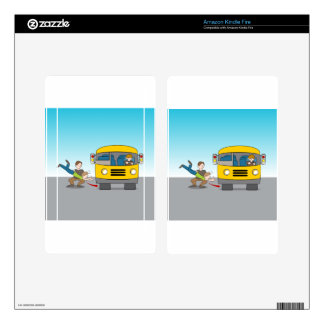 Thrown Under Bus Decal For Kindle Fire