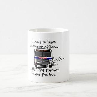 Thrown under the bus classic white coffee mug