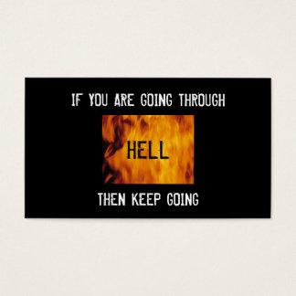 thru hell bc business card