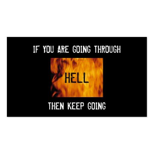 thru hell church bc business card template