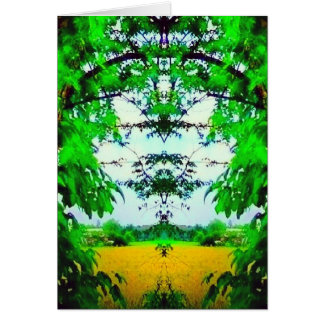 Thru the Branches Abstract Art Photo Blank Inside Card