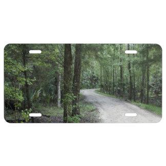 Thru the Florida Woods License Plate