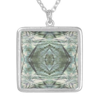 Thru the Needles Kaleidoscope Silver Plated Necklace