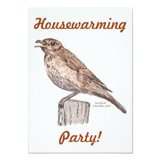 Thrush Bird Invitation